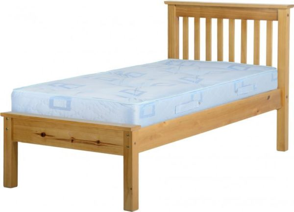 BuBED10  Monaco 3Ft Bed Low Foot End  in Antique Pine