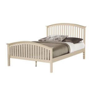 BwBS1014  Cream double 4ft6 Bed frame Malta