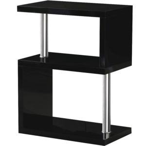 BBS1047  Charisma 3 Shelf Unit in Black Gloss/Chrome