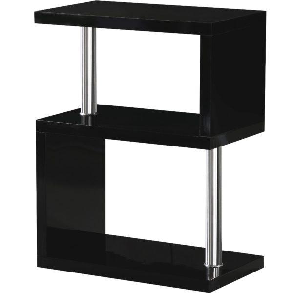 BBS1047  Charisma 3 Shelf Unit in Black Gloss/Chrome