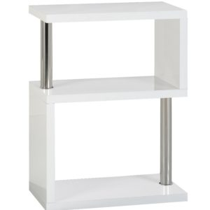 BBS1048  Charisma 3 Shelf Unit in White Gloss/Chrome