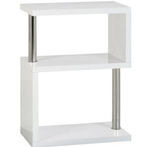 BBS1048  Charisma 3 Shelf Unit in White Gloss/Chrome