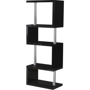 BBS1049  Charisma 5 Shelf Unit in Black Gloss/Chrome