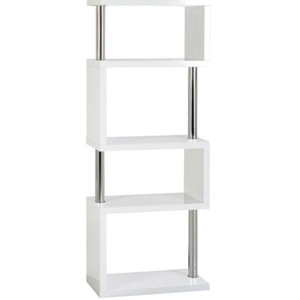BBS1050  Charisma 5 Shelf Unit in White Gloss/Chrome
