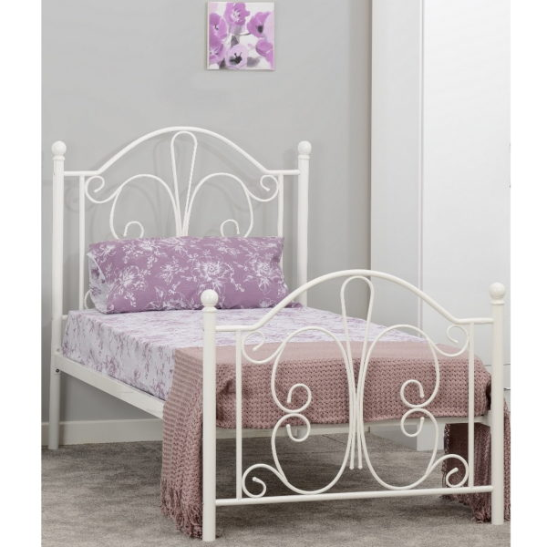 BuBS1136  Annabel 3ft bed in White.