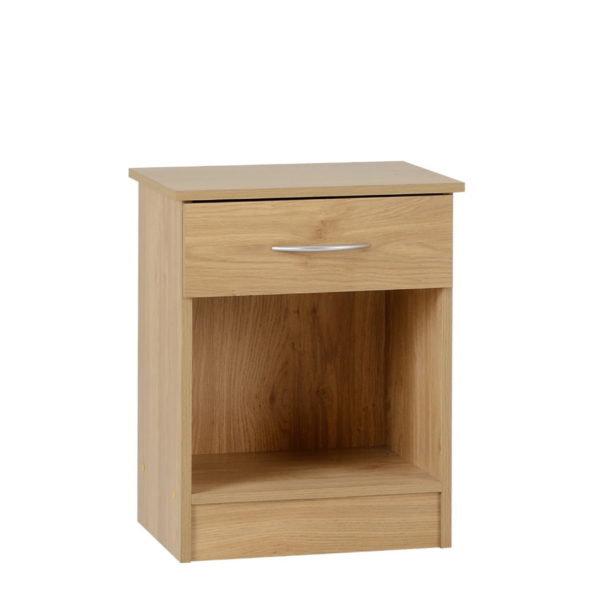 BBS1137  Bellingham bedroom set in Oak Effect Veneer. Include wardrobe, chest of drawers and bedside locker.