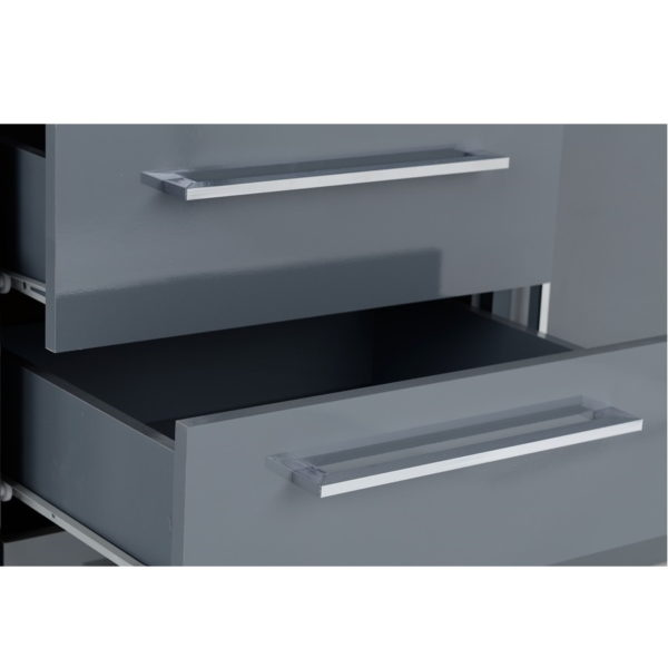 BBS1143  Charisma 2 Door 3 Drawer Sideboard in Grey Gloss