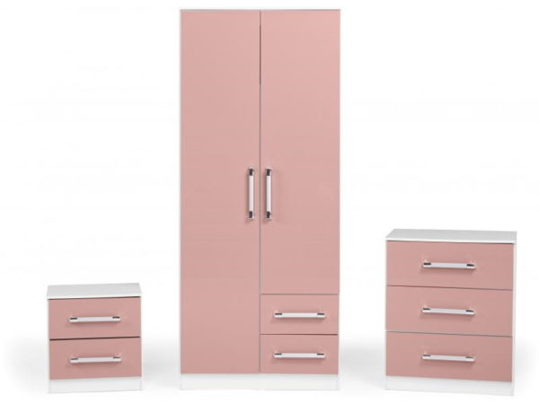 BBS1174  Jasper bedroom set in pink gloss.