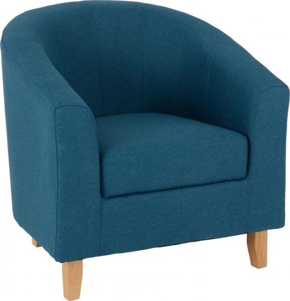 BBS1217  Tempo tub chair in petrol blue fabric.