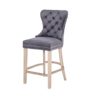 BBS1255  Geneva Bar Stool in dark grey.