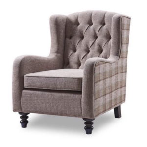 BBS1265  Coventry Wing chair with checkered sides.