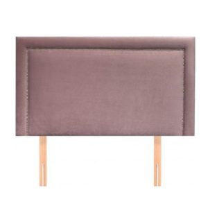 BBS1280  Small double 4ft Isabella headboard in blush fabric.