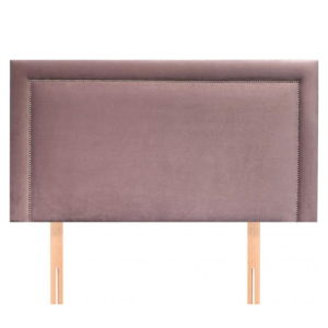 BBS1281  Standard double 4ft6 Isabella headboard in blush fabric.