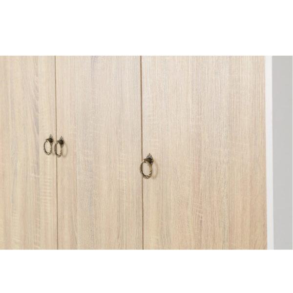 BBS1293  Nordic 3 door 3 drawer wardrobe