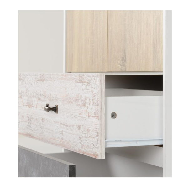 BBS1294  Nordic 2 door 2 drawer wardrobe