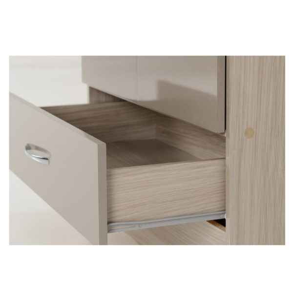 BBS1302  Nevada 2 door 1 drawer Wardrobe in Oyster  Gloss.