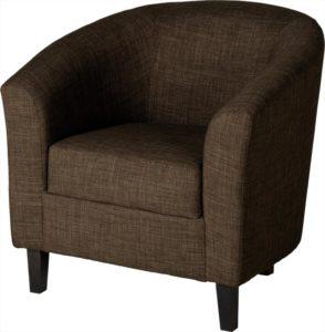 BBS146  Tempo Tub Chair in Dark Brown Fabric