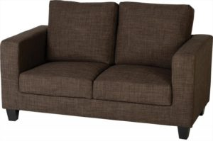 BBS257  Tempo Two Seater Sofa in Dark Brown Fabric