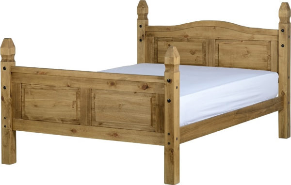 BwBS301  Corona 4Ft6inch Bed High Foot End