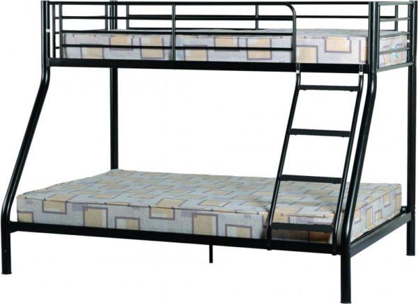 BuBS337  Tandi Triple Sleeper Bunk Bed Frame in Black