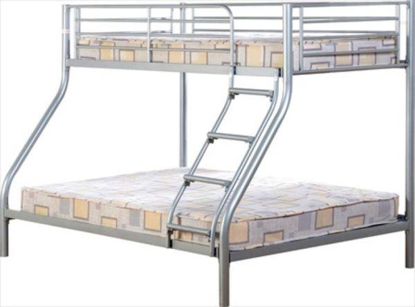BuBS338  Tandi Triple Sleeper Bunk Bed Frame in silver