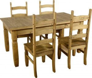 BBS376  Corona Extending Dining Set with Plain Seats
