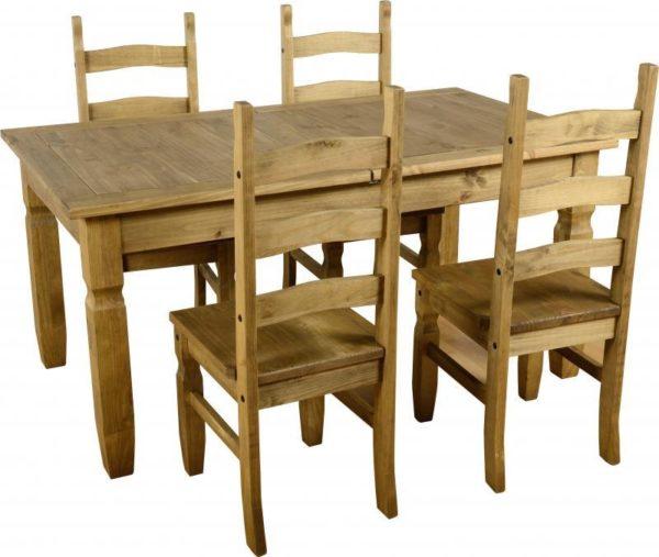 BBS376  Corona Extending Dining Set with Plain Seats