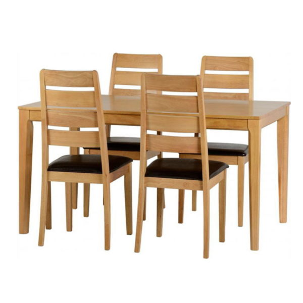 BBS577  Logan dining set with 4 chairs