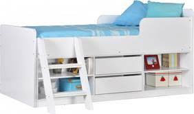BvBS638  Felix Low Sleeper Bed in White