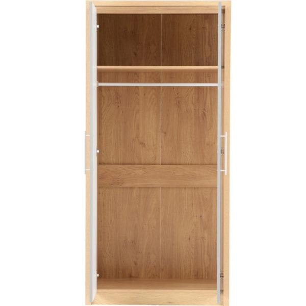 BBS649  Seville Bedroom Set in Light Oak Veneer  Grey High Gloss.