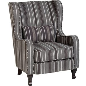 BBS653  Sherborne armchair in Grey Stripes.
