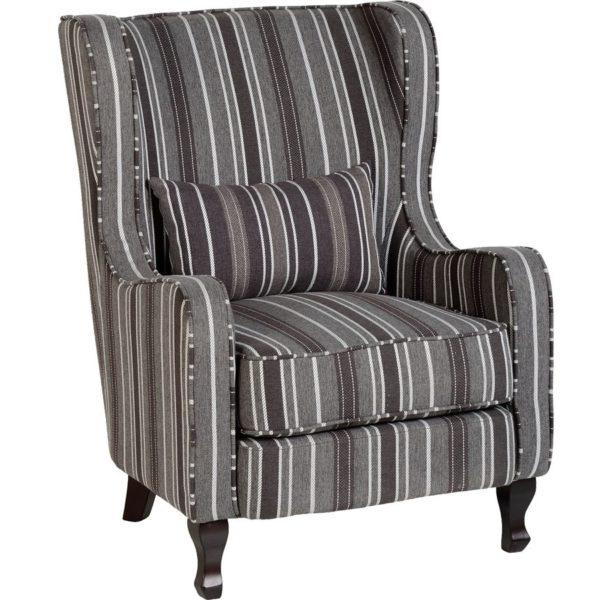BBS653  Sherborne armchair in Grey Stripes.