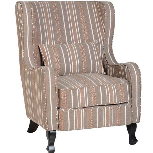 BBS655  Sherborne armchair in  Beige Stripes.