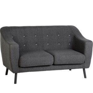 BBS663  ASHLEY 2 SEATER SOFA in Dark Grey