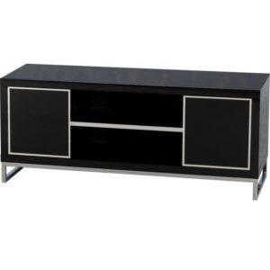 BBS680  CHARISMA 2 DOOR 1 SHELF FLAT ScrEEN TV UNIT in Black