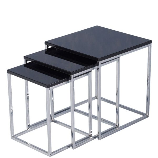 BBS686  CHARISMA NEST OF TABLES in Black