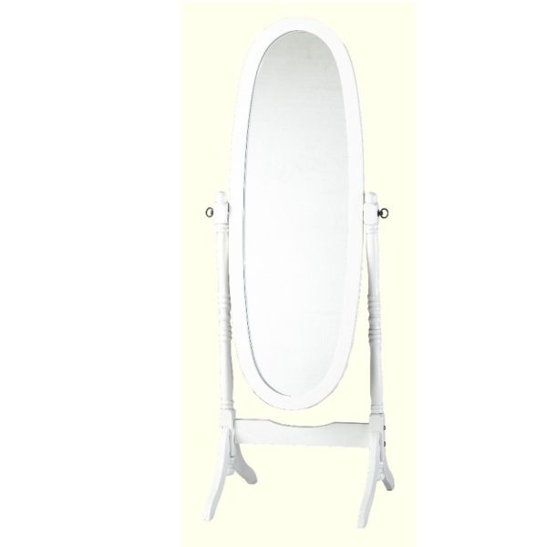 BBS693  Contessa Cheval Mirror  in White