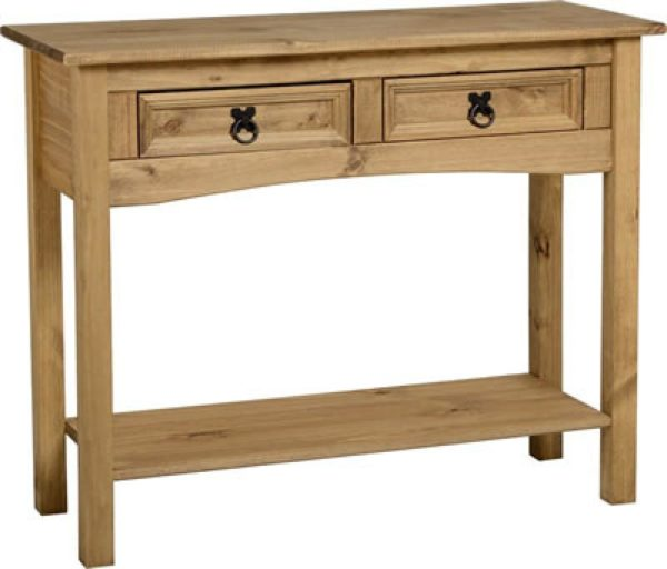BBS89  Corona 2 Drawer Console Table with Shelf