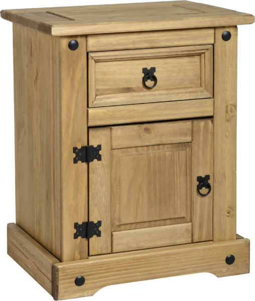 BBS97  Corona 1 Drawer 1 Door Bedside Cabinet