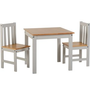 BBS1089  Ludlow Dining Set with 2 chairs in Grey