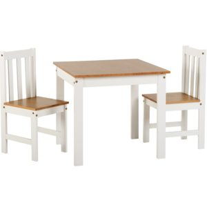 BBS1090  Ludlow Dining Set with 2 chairs in White