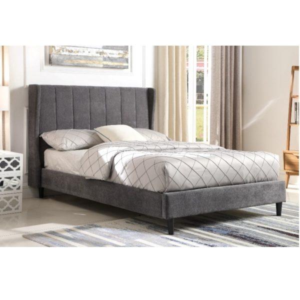 BBS1102  Amelia 4ft6 Bed in Dark Grey