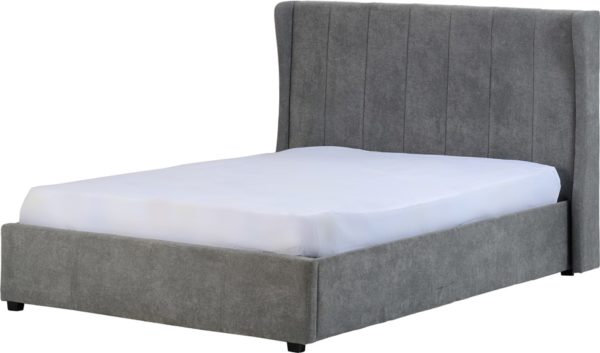BwBS1134  Amelia Storage double 4ft6 bed frame in Grey.