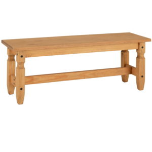 BBS1149  Corona 4ft Bench in Distressed Waxed Pine.