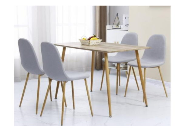 BBS1160  Barley Dining set with 4 chairs.