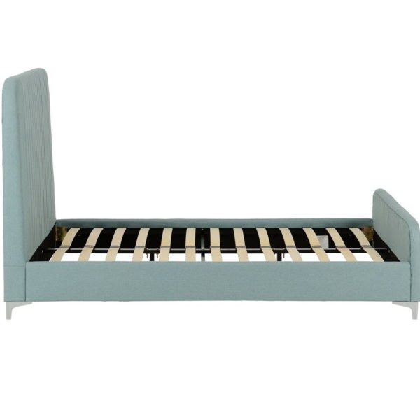 BwBS1169  Hampton double bed in teal fabric.