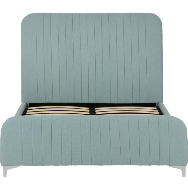 BxBS1171  Hampton kingsize bed in teal fabric.