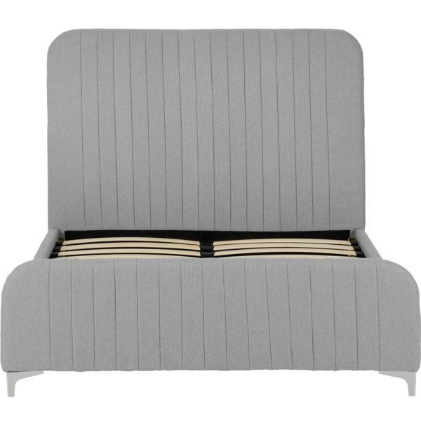 BxBS1172  Hampton kingsize bed in light grey fabric.
