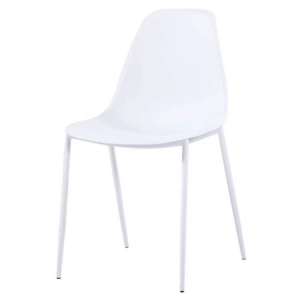 BBS1175  Lindon dining set with 4 chairs in White.