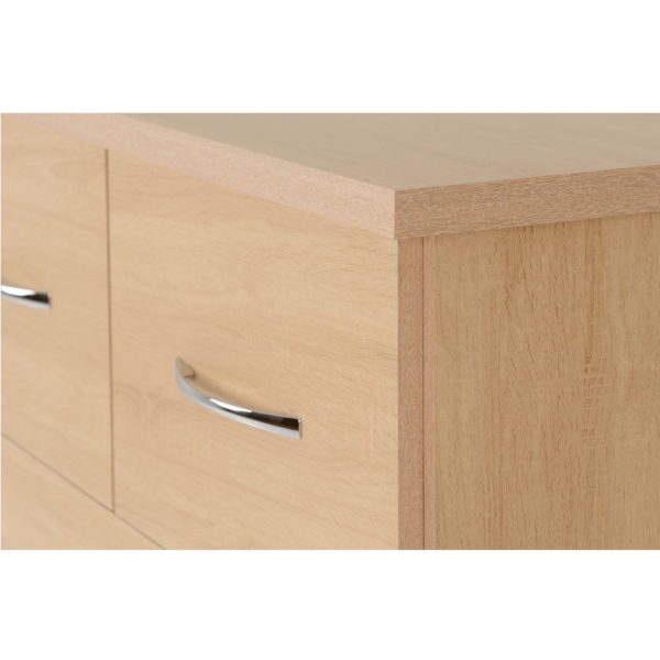 BBS1199  Nevada three plus two chest of drawers in Sonoma Oak effect.
